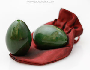 famous chinese drilled jade egg used in Taoist practice